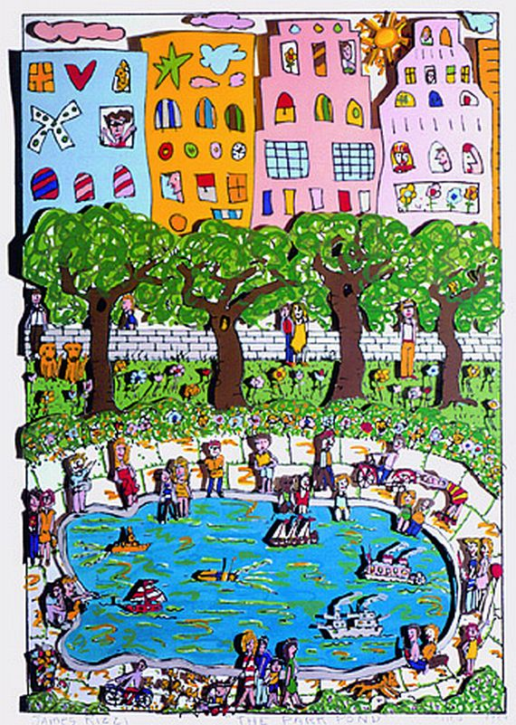 James Rizzi - 2 Bll.: The Park Pond. Living near the Water