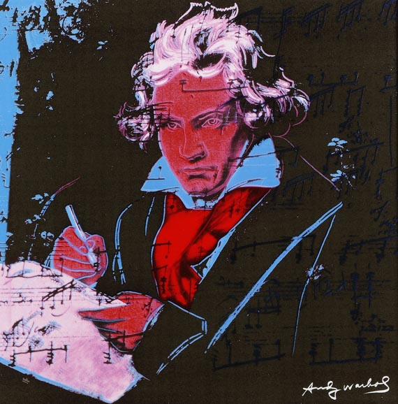 "Andy Warhol - Nach - Rosenthal Wand-Objekt ""Ludwig van Beethoven pink"""