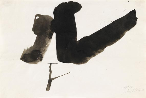 Julius Bissier - Komposition 1963 x