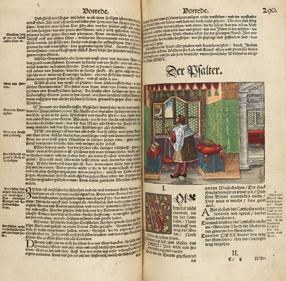 Martin Luther - Biblia germanica, altkoloriert. 1547. -