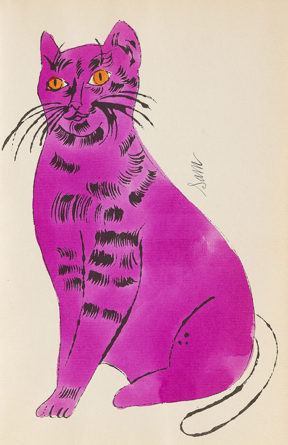 Andy Warhol - 25 Cats name[d] Sam and one Blue Pussy