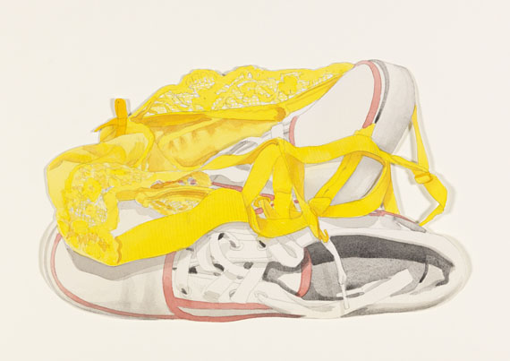 Tom Wesselmann - Study for sneakers and yellow bra