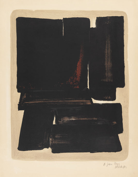 Pierre Soulages - Lithographie n° 7a