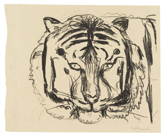 Edvard Munch - Tigerkopf II