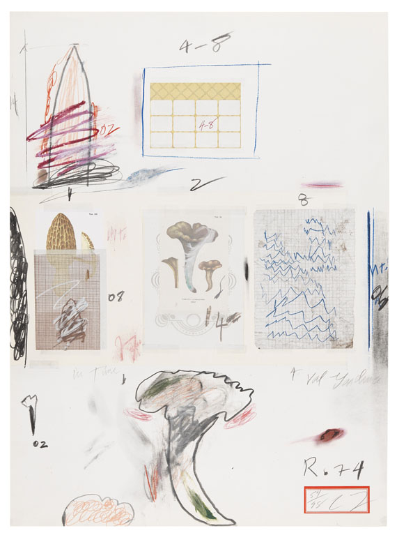Cy Twombly - Natural History Part I - Mushrooms (No. VI)