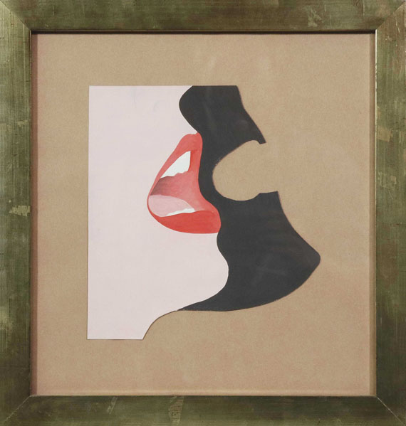 Tom Wesselmann - Untitled (Study for Face #1) - Frame image
