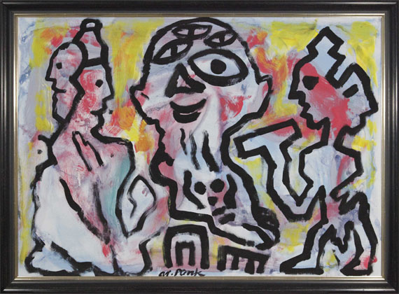 A. R. Penck (d.i. Ralf Winkler) - Plato, Sokrates und Aristoteles 3 - Frame image