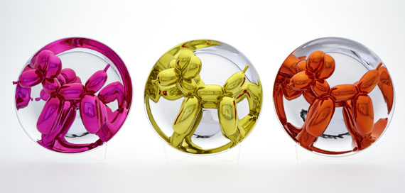 Jeff Koons - Balloon Dogs - Yellow, Magenta, Orange