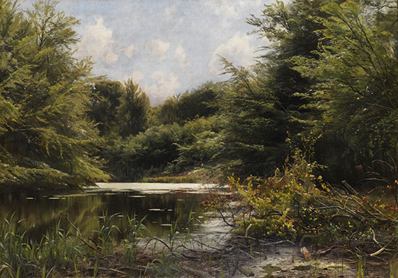 Peder (Peder Mørk Mønsted) Mönsted - Spätsommer am Waldteich