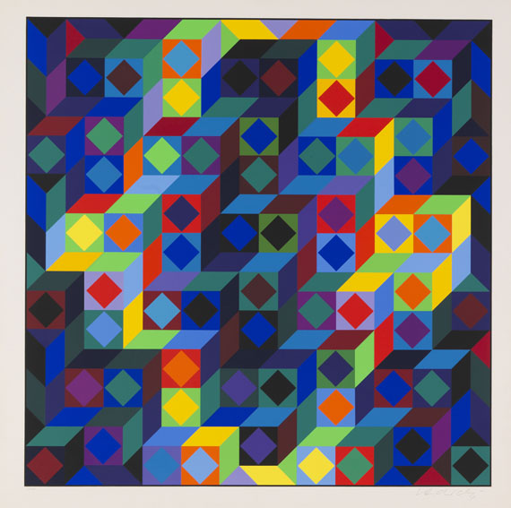 Victor Vasarely - Hommage a l'Hexagone -