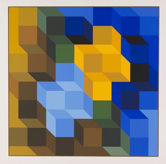 Victor Vasarely - Hommage a l'Hexagone