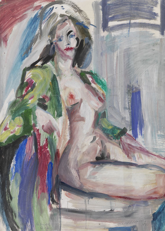 Rainer Fetting - Aktmodell