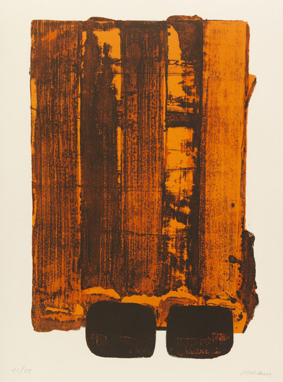 Pierre Soulages - Lithographie n° 34