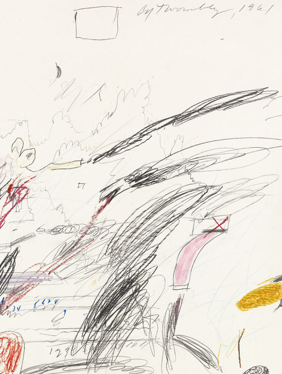 Cy Twombly - Untitled (Notes from a Tower) -