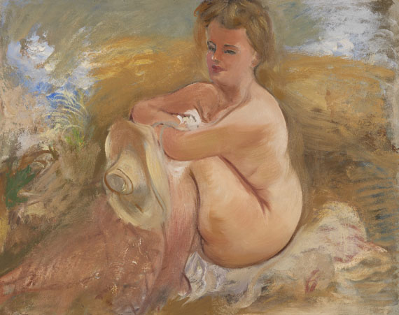 George Grosz - Sitting Nude with Summer Hat