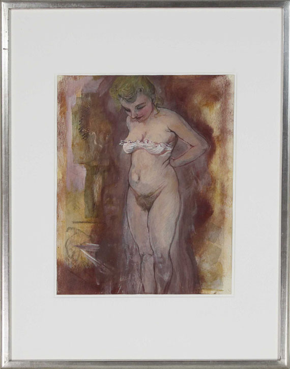George Grosz - Woman Undressing - Frame image