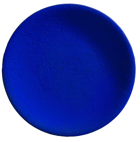 Yves Klein - Untitled Blue Plate (IKB 161)