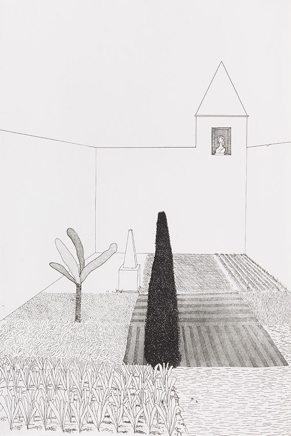 David Hockney - Illustrations for Six Fairy Tales from the Brothers Grimm -