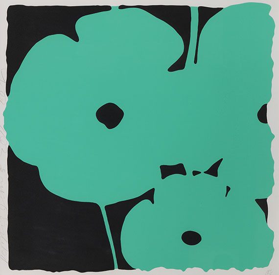 Donald Sultan - Poppies -