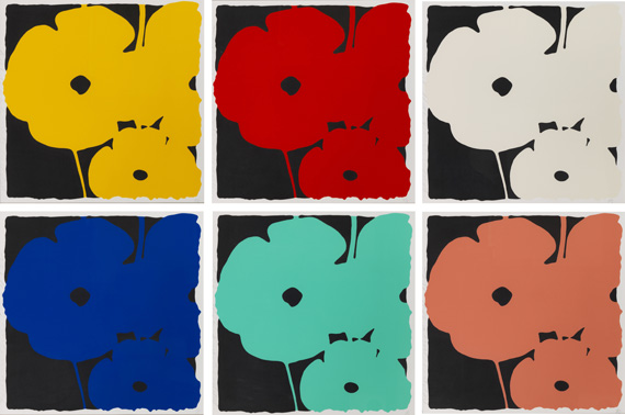 Donald Sultan - Poppies