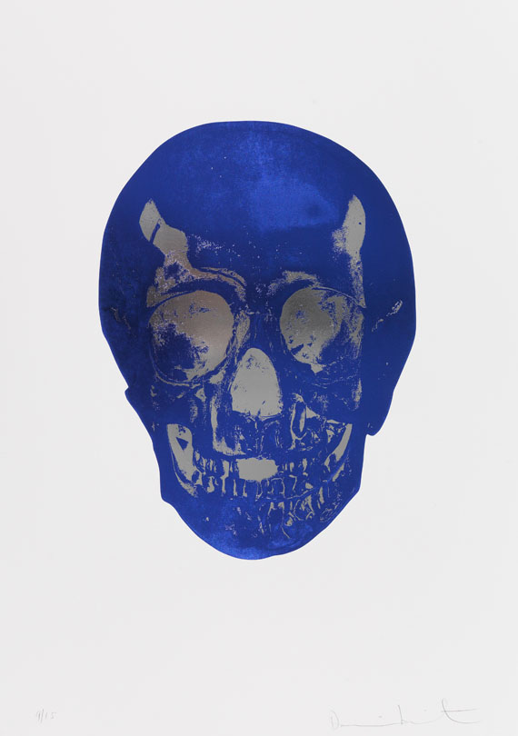 Damien Hirst - The Dead (Westminster Blue Silver Gloss Skull)