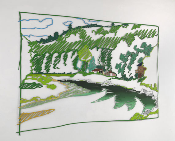 Tom Wesselmann - Cochecton Pool, Delaware River (from Lynda's) -