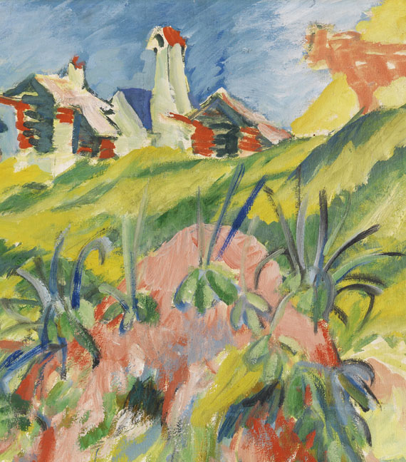 Ernst Ludwig Kirchner - Bergdorf mit rosa Kuh -