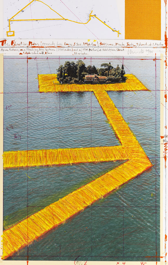 Christo - Floating Piers - Frame image