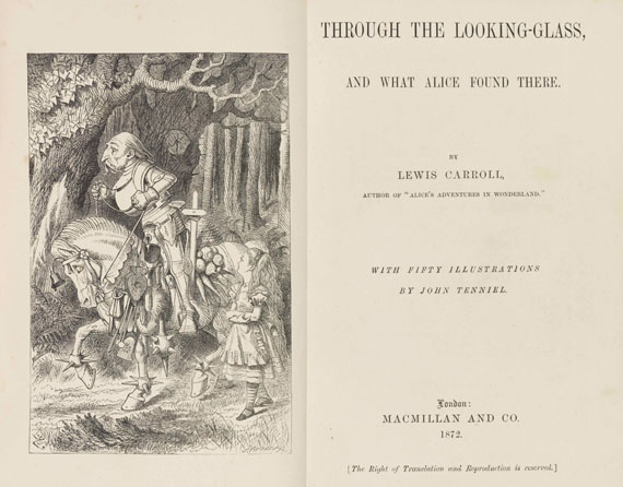 Lewis Carroll - Alice in Wonderland + Through the looking-glass. 2 Werke in 1 Schuber -